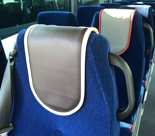 Boucle magnétique Audioback dans un de nos bus